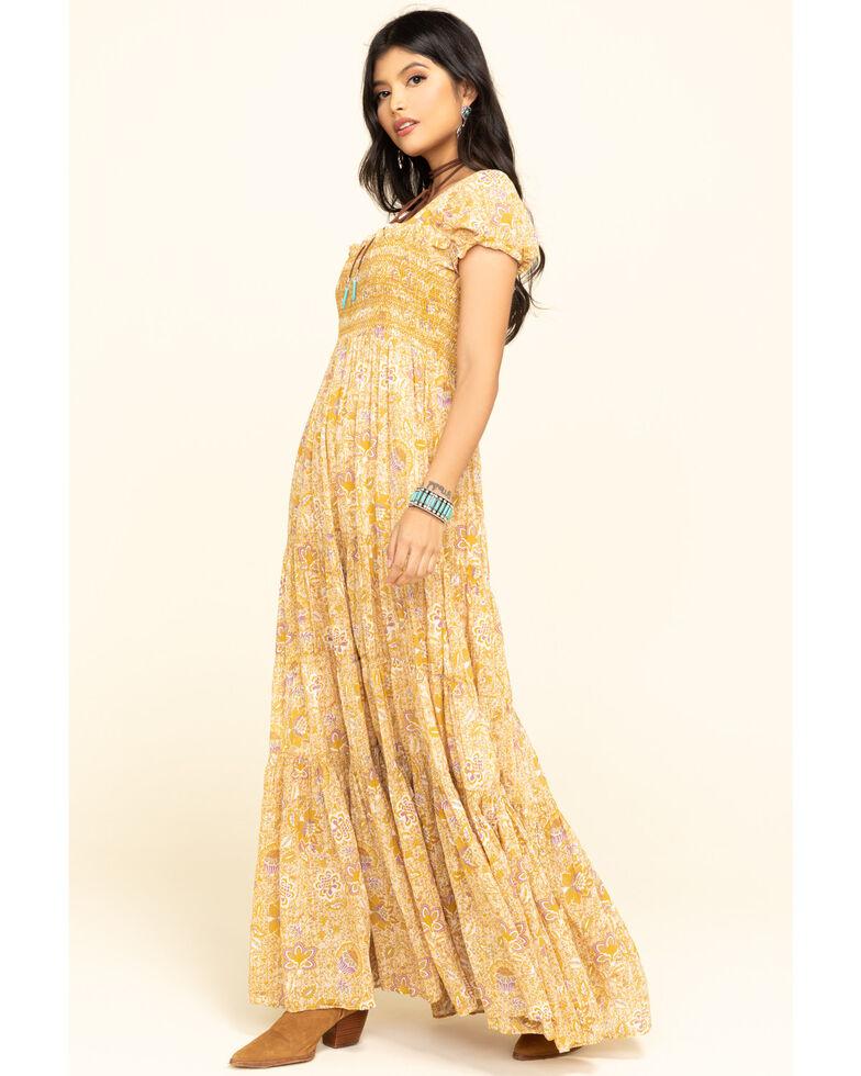 Free People Women's Getaway Maxi Dress, Mustard, hi-res