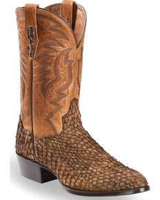 Dan Post Men's Chocolate Sea Bass Cowboy Boots - Medium Toe, Chocolate, hi-res
