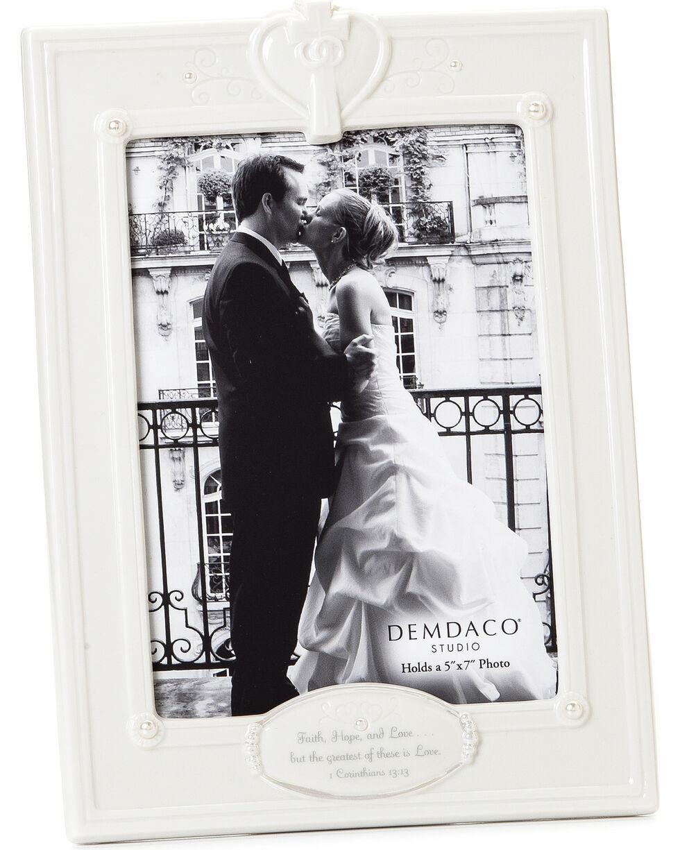 Demdaco Faith, Hope, and Love Frame , White, hi-res