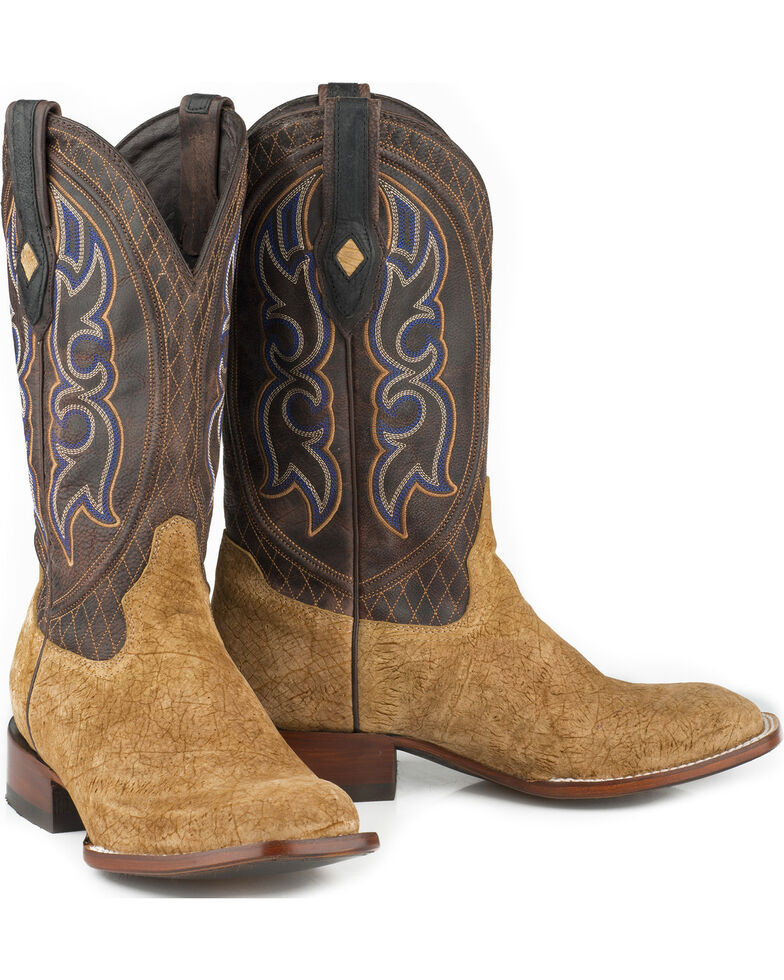 Stetson Men's Butte Hippopotamus Exotic Boots, Tan, hi-res