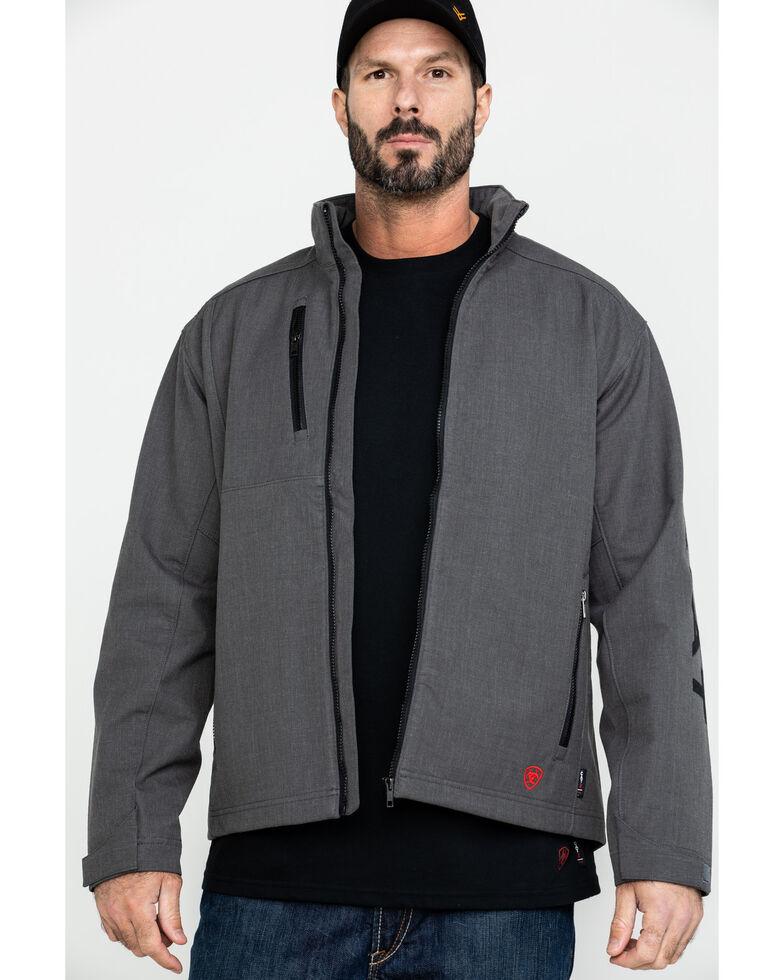 Ariat Men's FR Team Logo Work Jacket - Big , Grey, hi-res