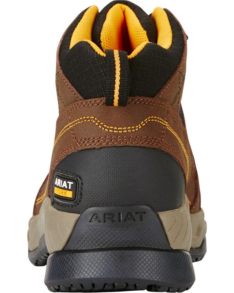 Ariat Men's Contender Steel Toe Work Shoes, Brown, hi-res