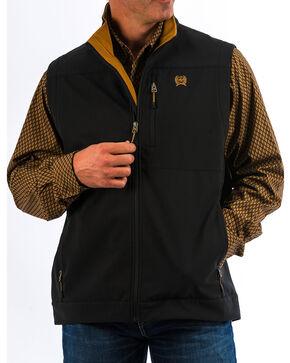 Cinch Men's Solid Black Bonded Vest - Big , Black, hi-res
