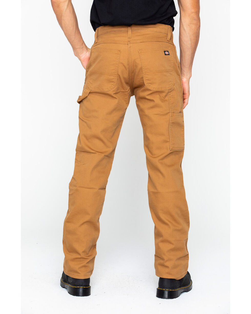 Dickies Men's FLEX Tough Max Duck Carpenter Pants, Brown, hi-res