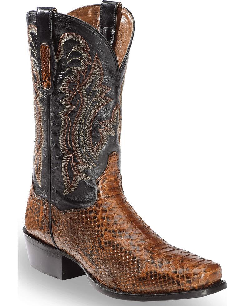 e3ec9fc38fa Dan Post Men's Cognac Back Cut Python Cowboy Boots - Square Toe