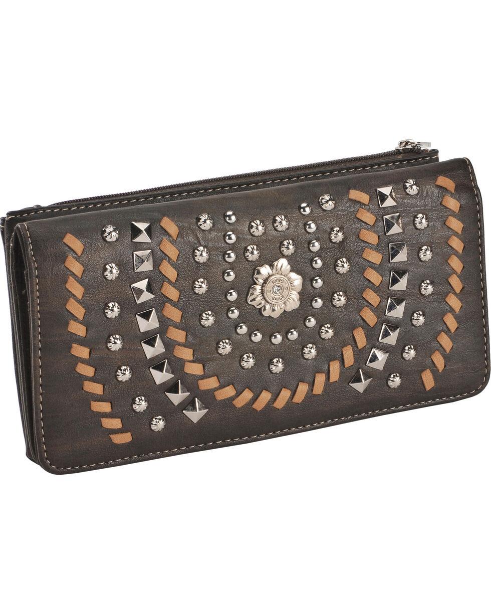 Montana West Women's Coffee Horseshoe Wallet , Brown, hi-res