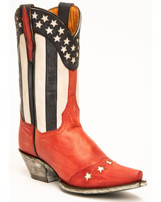 Dan Post Women's Stars & Stripes Fashion Western Boots - Snip Toe, Red, hi-res
