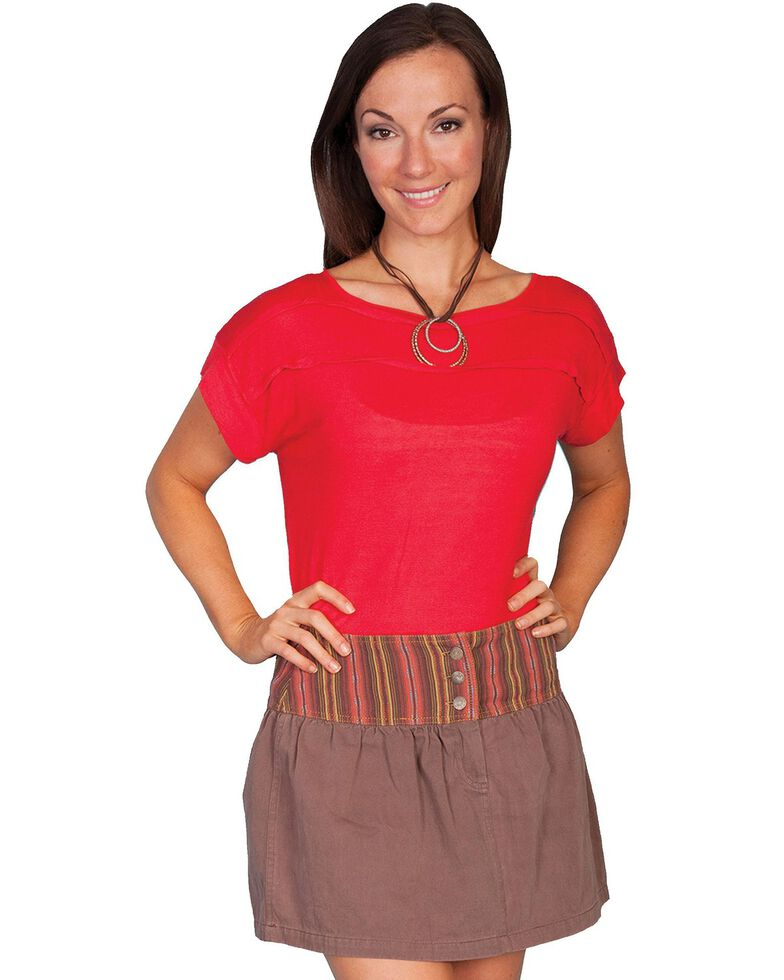 Scully Striped Skirt, Brown, hi-res