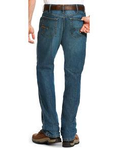 Ariat Men's Rebar M3 Loose Fit Carbine Wash Jeans - Straight Leg, Blue, hi-res