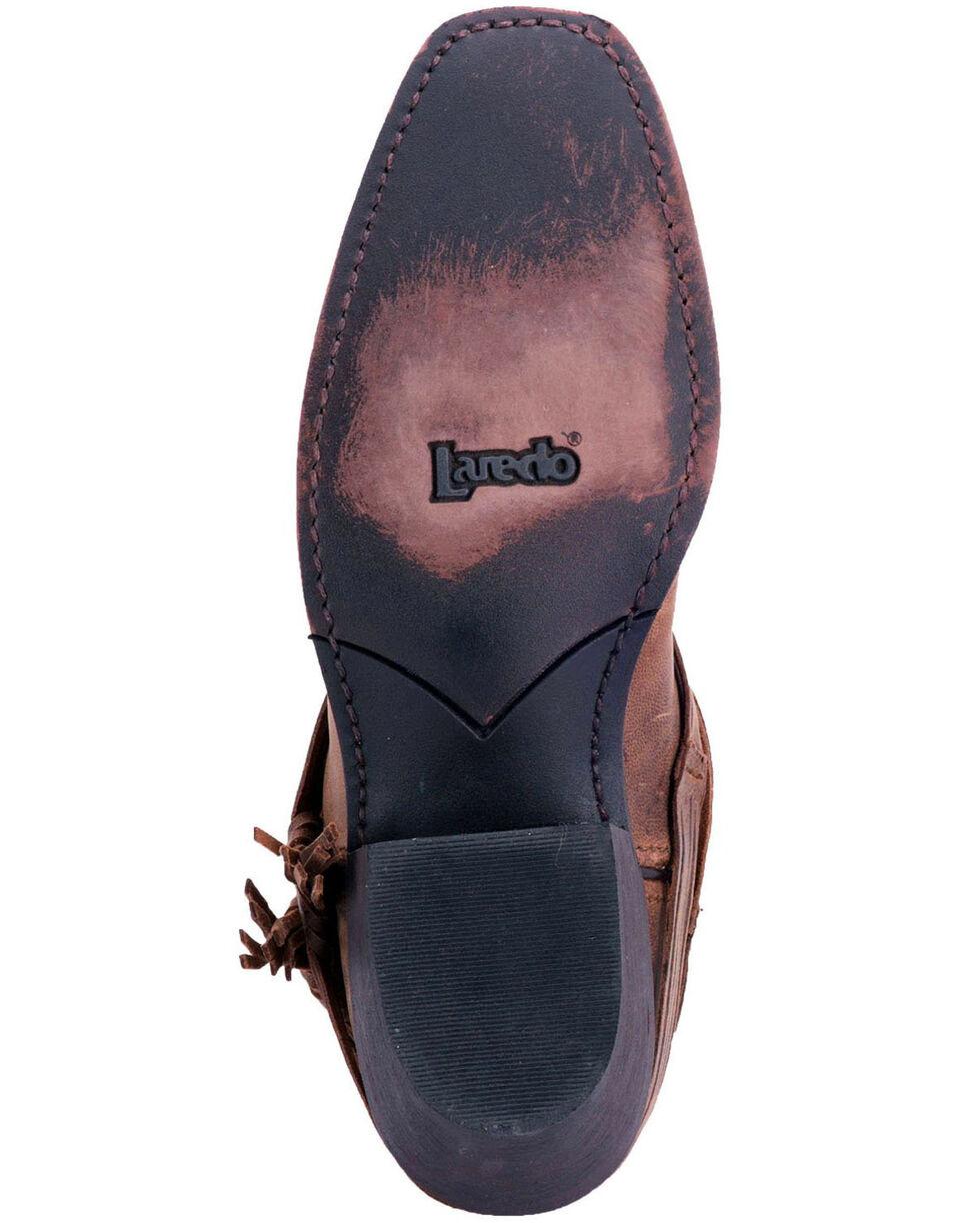 Laredo Women's Myra Ankle Fringe Western Boots - Square Toe, Sand, hi-res