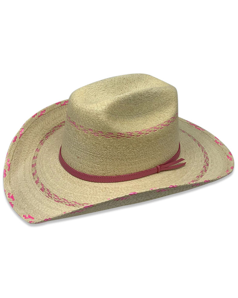 Atwood Hat Co. Kid's Straw Hat, Pink, hi-res