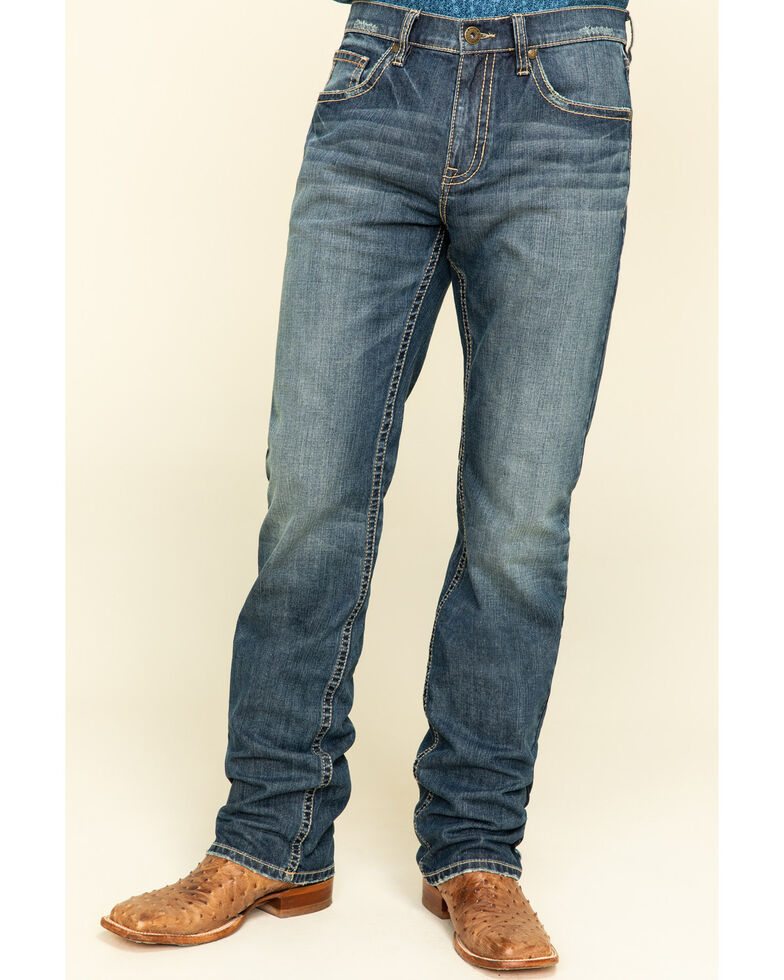 Cody James Men's Mordant Stretch Stackable Straight Jeans , Blue, hi-res