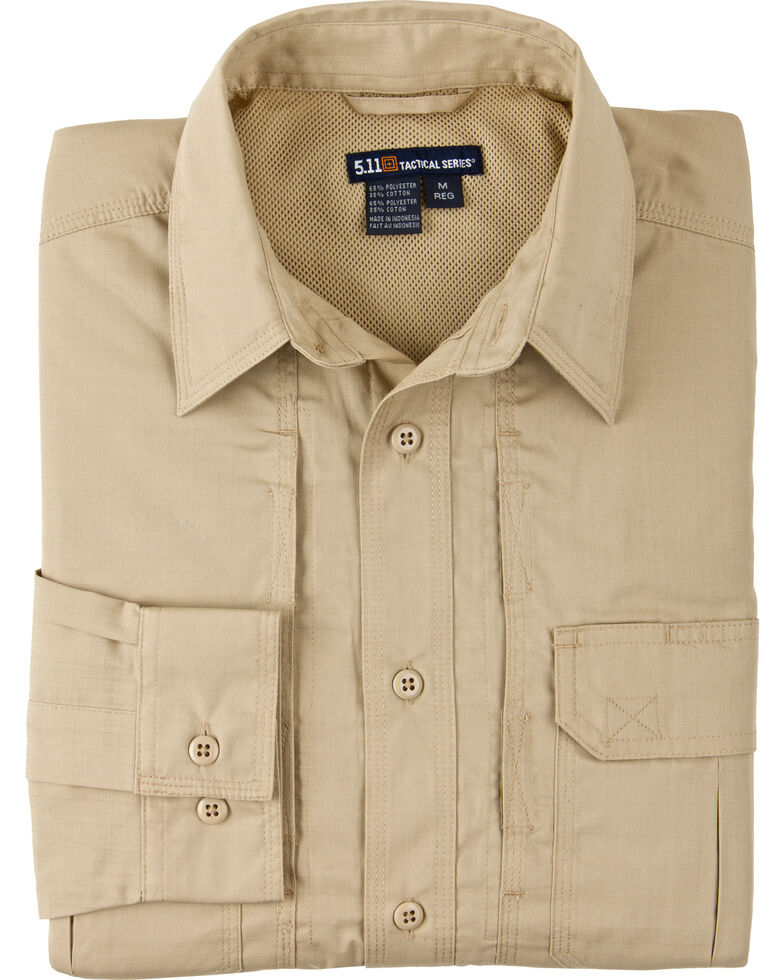 5.11 Tactical Women's Taclite Pro Long Sleeve Shirt, Khaki, hi-res