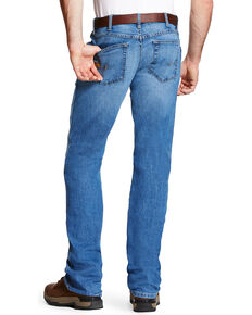 Ariat Men's Rebar M4 Blue Haze Low Rise Bootcut Work Jeans , Blue, hi-res