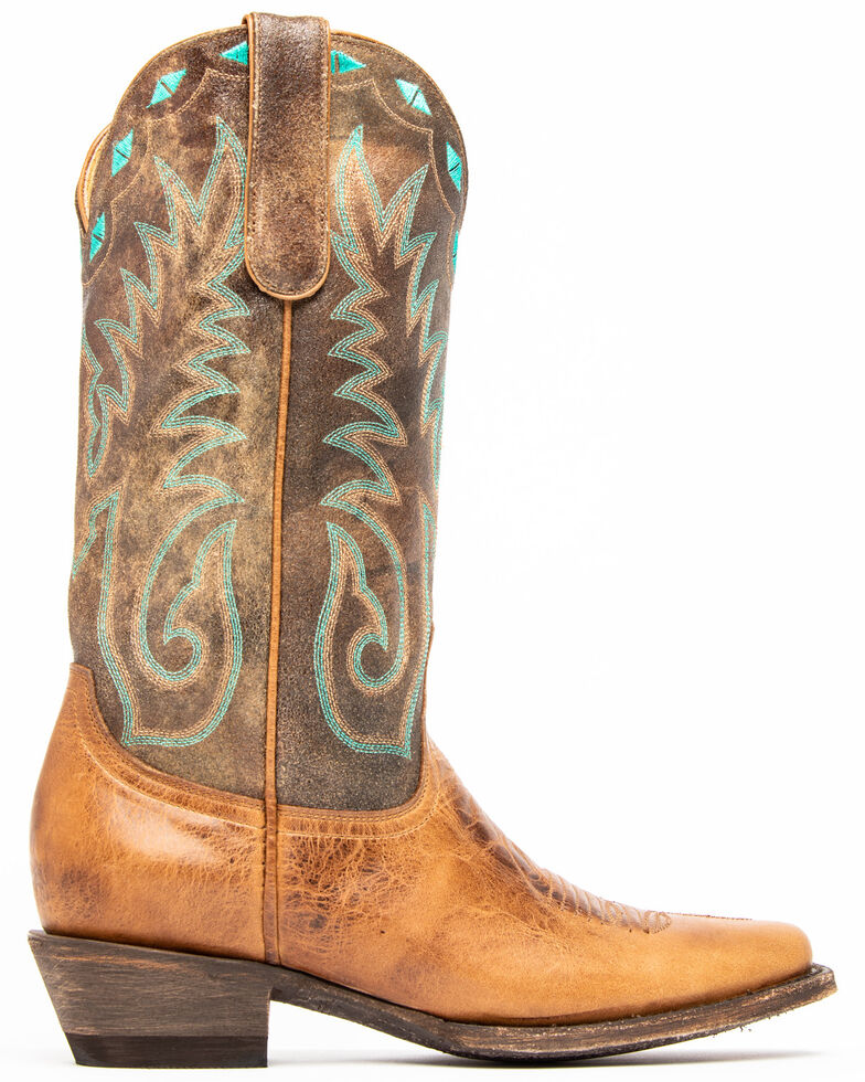 Idyllwind Women's Buckwild Western Boots - Square Toe, Brown, hi-res