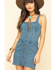 Show Me Your Mumu Women's Denim Cora Dress, Blue, hi-res