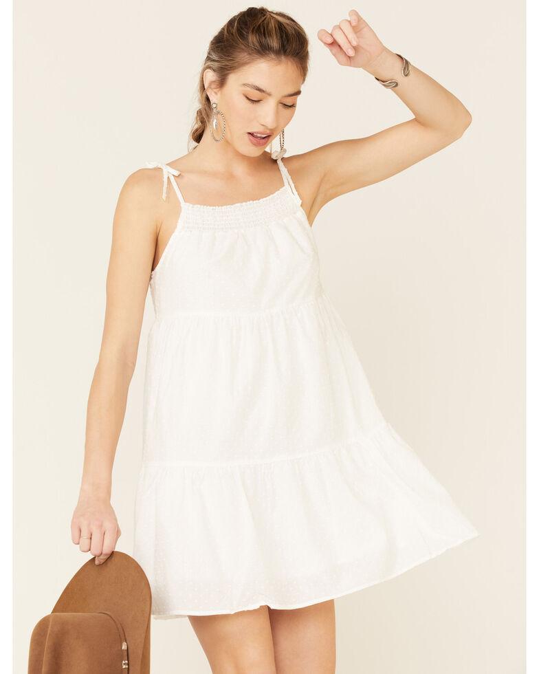 Wrangler Women's Tiered Sundress, White, hi-res