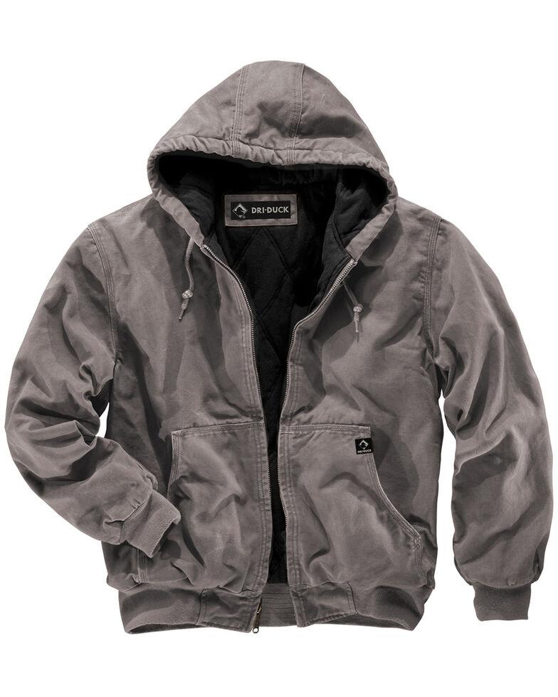 Dri Duck Men's Cheyenne Hooded Work Jacket , Grey, hi-res
