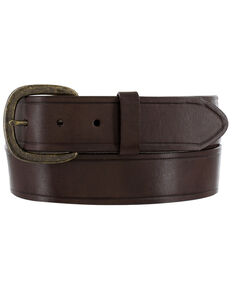 Justin Men's Coal City Western Belt, Brown, hi-res