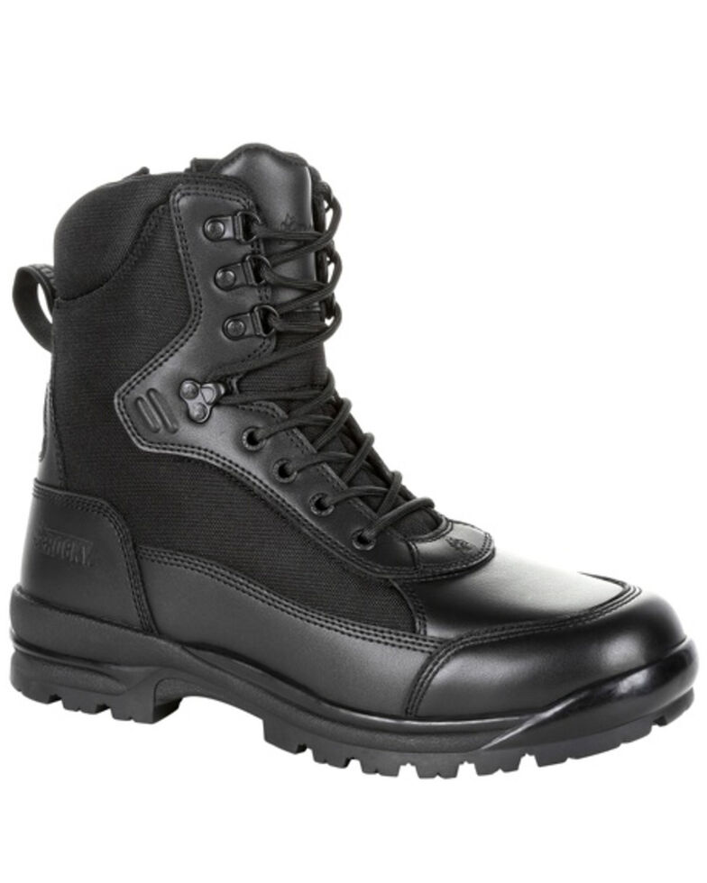 Rocky Youth Boys' X-Flex Public Service Work Boots - Soft Toe, Black, hi-res