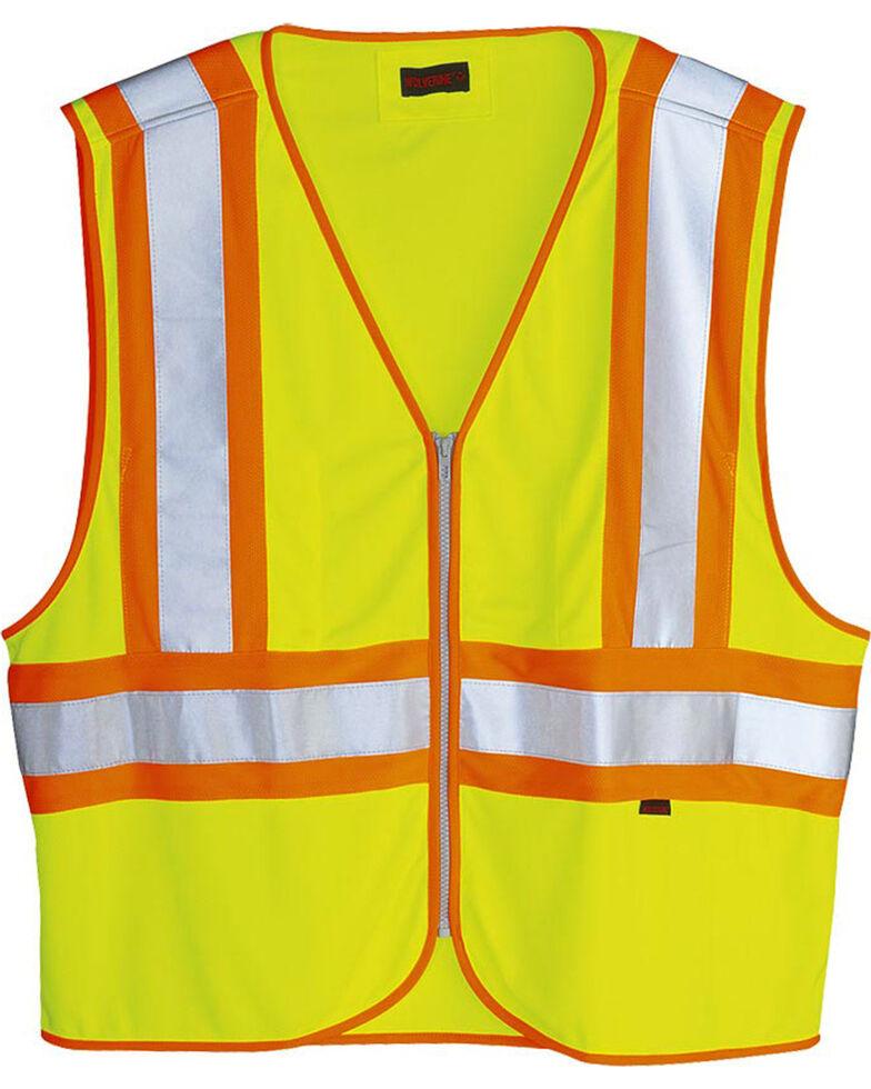Wolverine Men's Yellow Mile Marker Vest , Yellow, hi-res