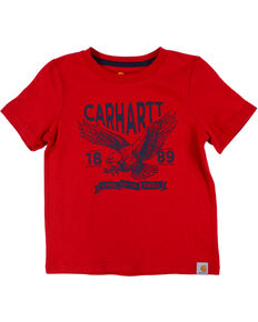 Carhartt Kids' Land of the Free T-Shirt, Red, hi-res