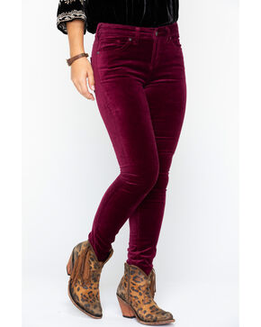 Silver Women's Aiko Skinny Jeans , Black Cherry, hi-res