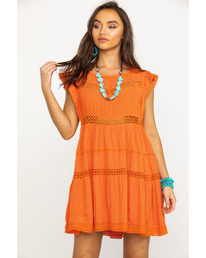 Free People Women's Retro Kitty Dress, Orange, hi-res