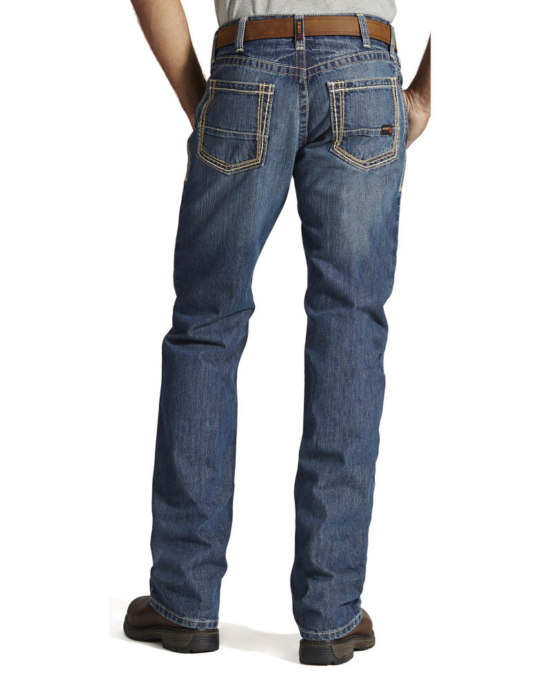 Ariat Men's Flame Resistant M4 Clay Low-Rise Bootcut Work Jeans, Denim, hi-res