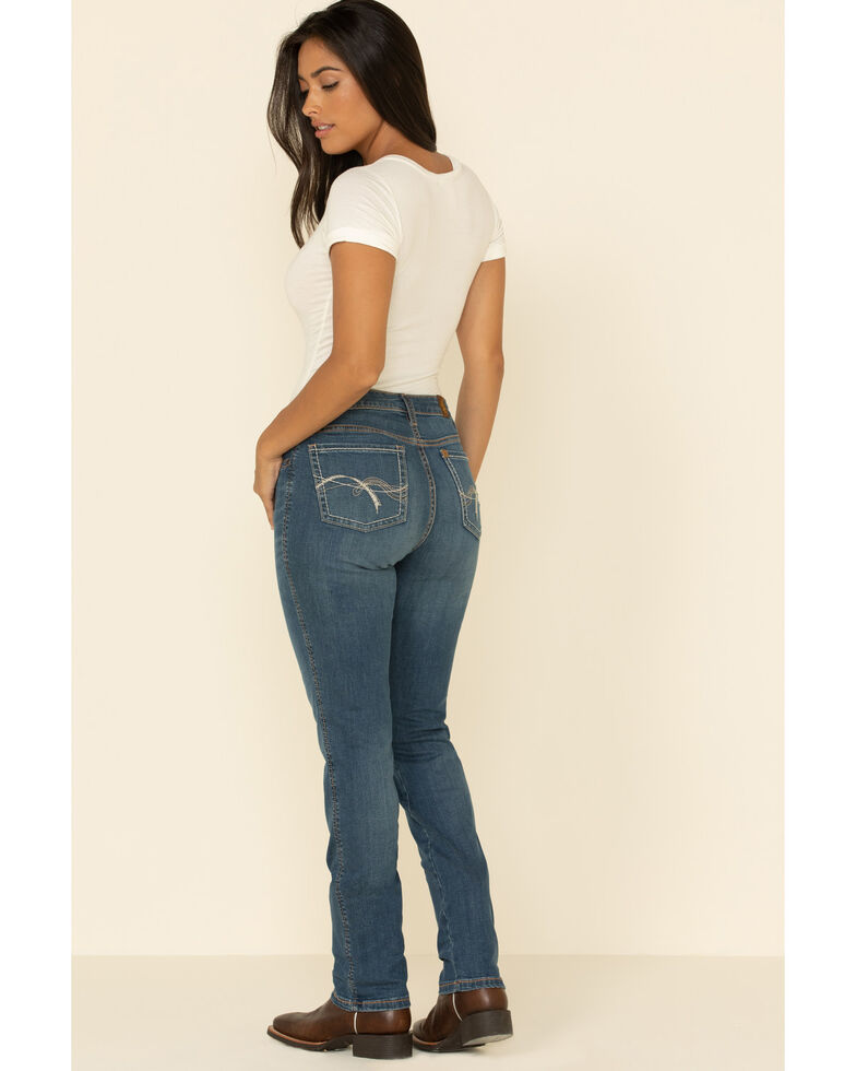 Wrangler Women's Aura Emmie Straight Jeans , Blue, hi-res
