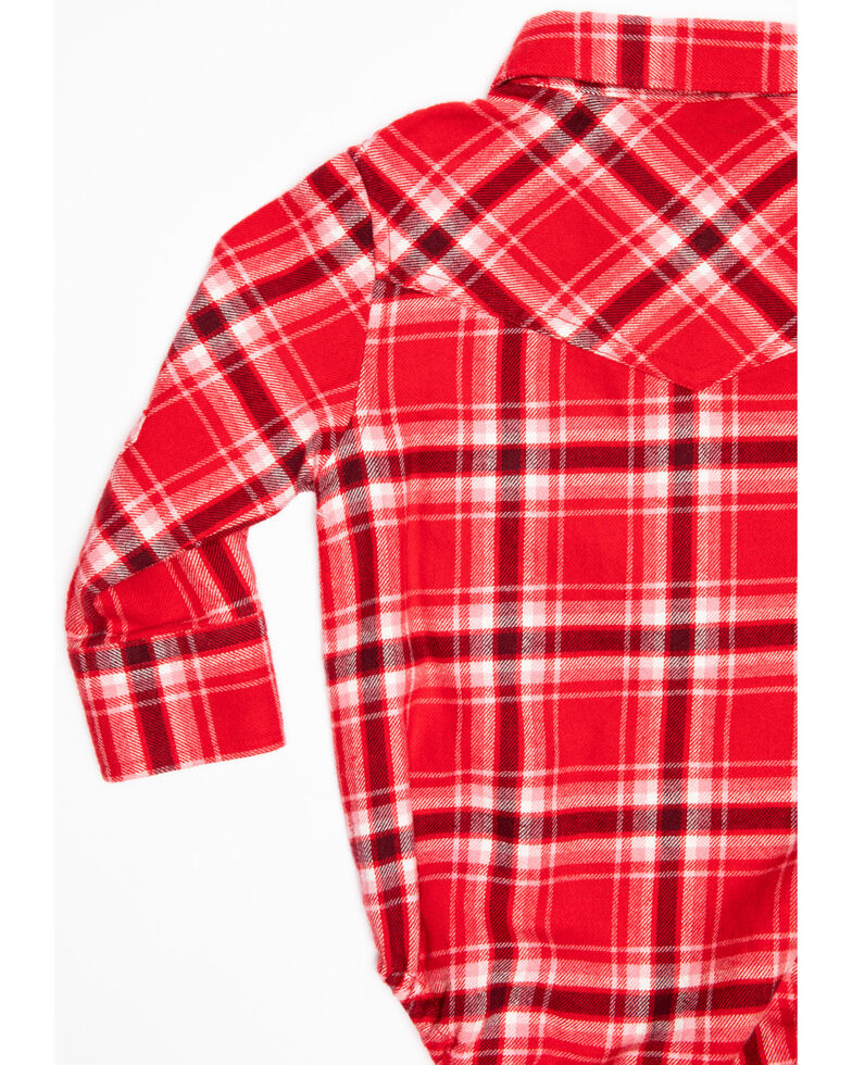 Shyanne Infant Girls' Red Plaid Woven Onesie , Red, hi-res