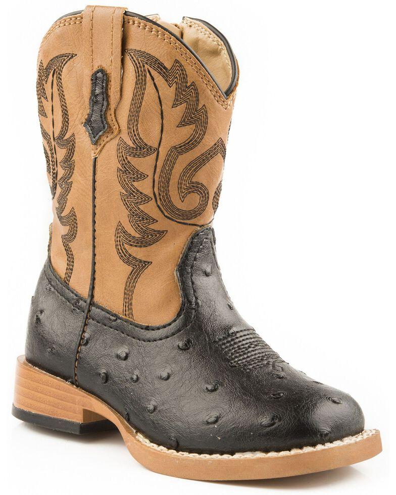 Roper Infant Western Boots, Black, hi-res