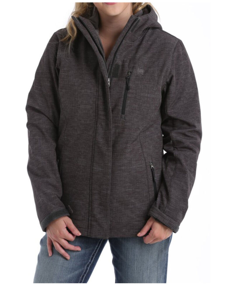 Cinch Women's Charcoal 3-in-1 Bonded Hooded Jacket , Charcoal, hi-res