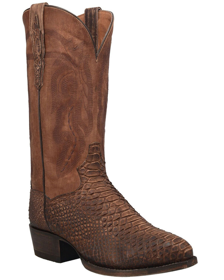 Dan Post Men's Mayson Western Boots - Snip Toe, Chocolate, hi-res
