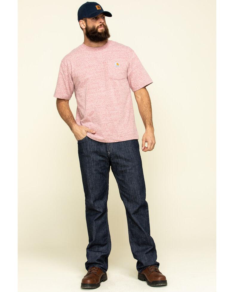 Carhartt Men's Heather Red Workwear Pocket Short Sleeve Work T-Shirt, Heather Red, hi-res