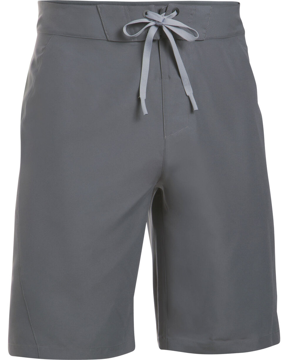 Under Armour Men's Charcoal Grey Mania Board Shorts, Charcoal Grey, hi-res