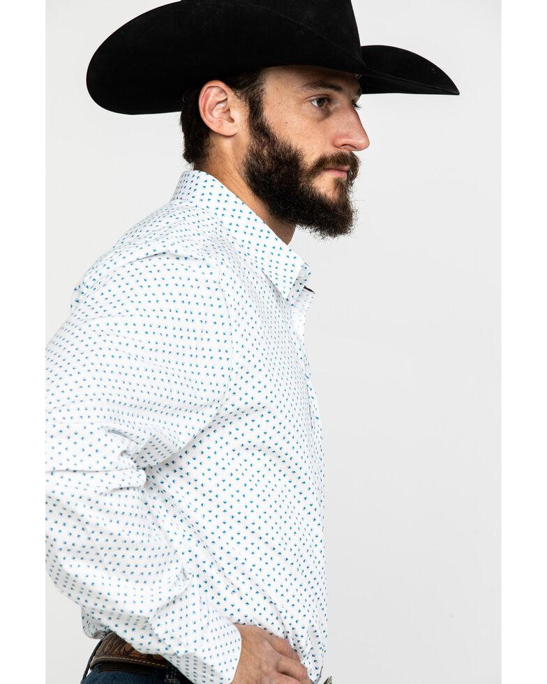 Cody James Core Men's Smoky Hill Geo Print Long Sleeve Western Shirt , White, hi-res