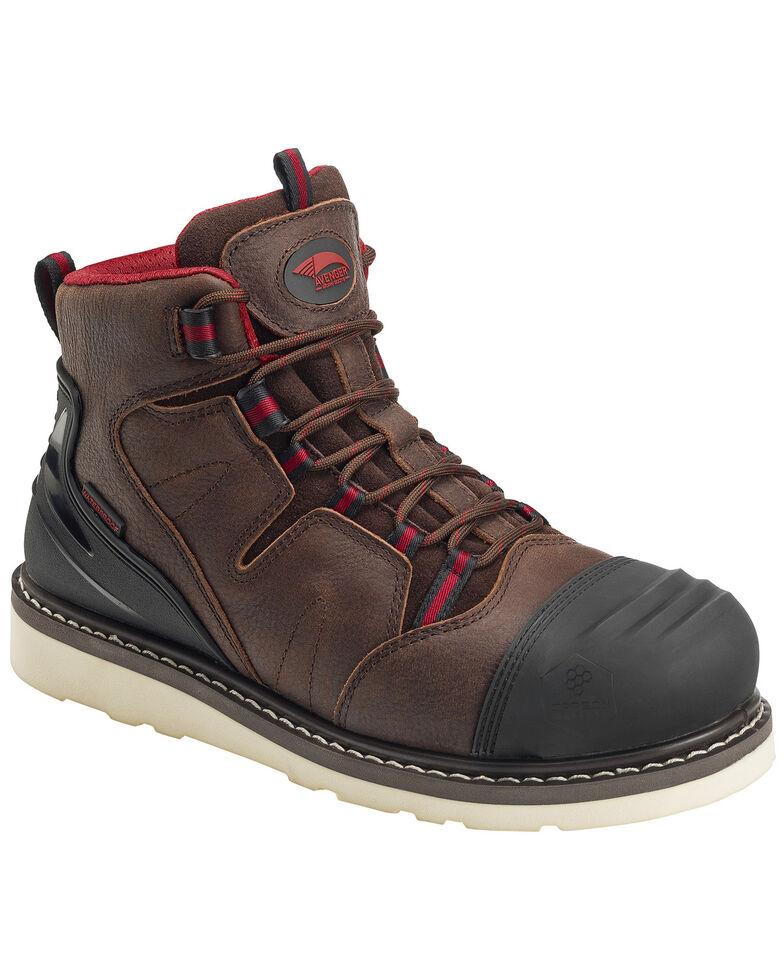 """Avenger Men's 6"""" Waterproof Work Boots - Composite Toe, Brown, hi-res"""