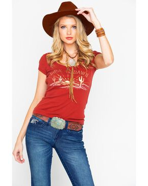 Shyanne Women's Dusk Til Dawn Foil Graphic Tee , Rust Copper, hi-res