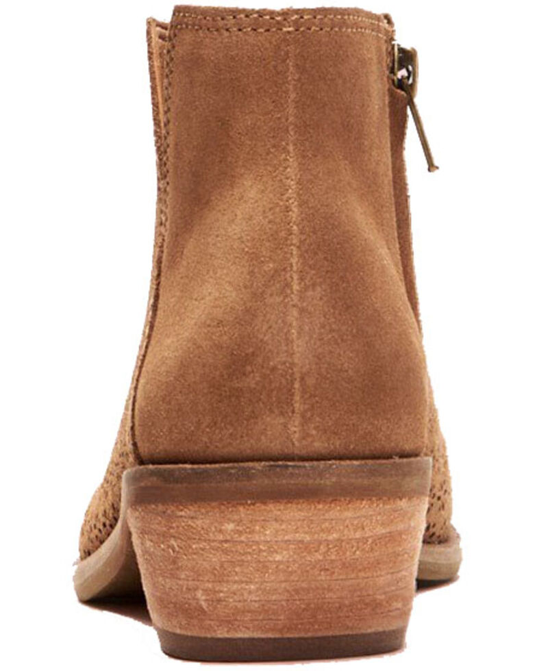 Frye Women's Caden Perf Fashion Booties - Round Toe, Tan, hi-res