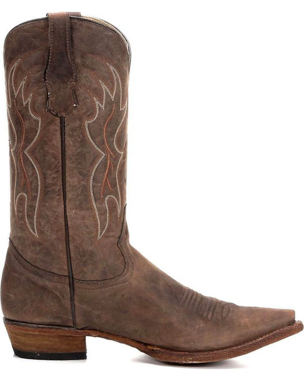 Circle G Men's Basic Snip Toe Western Boots, , hi-res