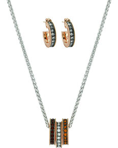Montana Silversmiths Women's Sunset Lights Triple Ring Jewelry Set, No Color, hi-res