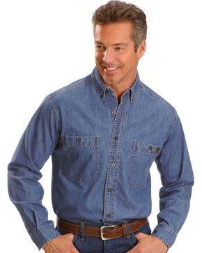 Riggs Workwear Men's Long Sleeve Denim Work Shirt, Antique, hi-res