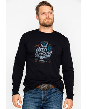 Moonshine Spirit Men's Billboard Graphic Long Sleeve Shirt , Black, hi-res