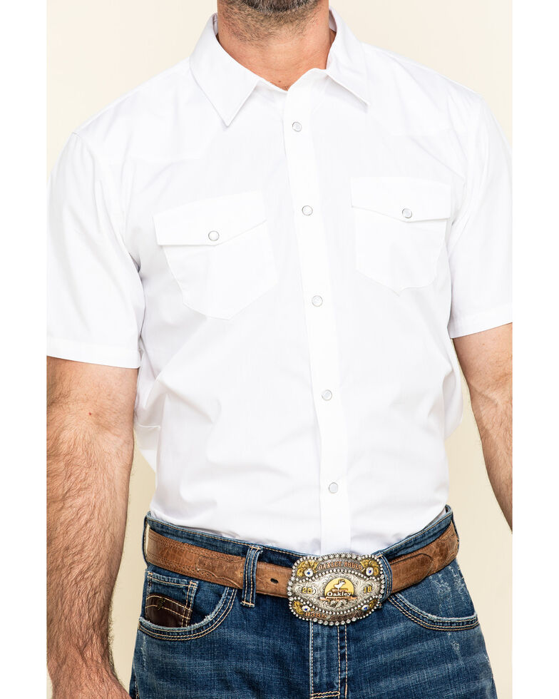 Gibson Trading Co. Men's White Water Solid Short Sleeve Western Shirt, , hi-res
