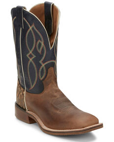 Tony Lama Men's Landgrab Western Boots - Wide Square Toe, Tan, hi-res