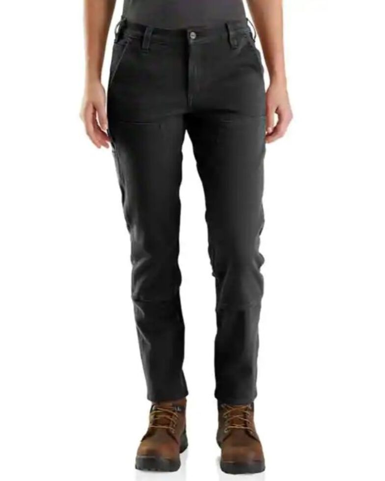 Carhartt Women's Black Twill Straight Double Front Pants , Blue, hi-res