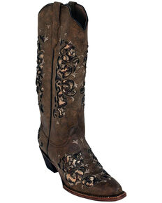 5df75fe1c Ferrini Women s Dazzle Mocha Western Boots - Snip Toe