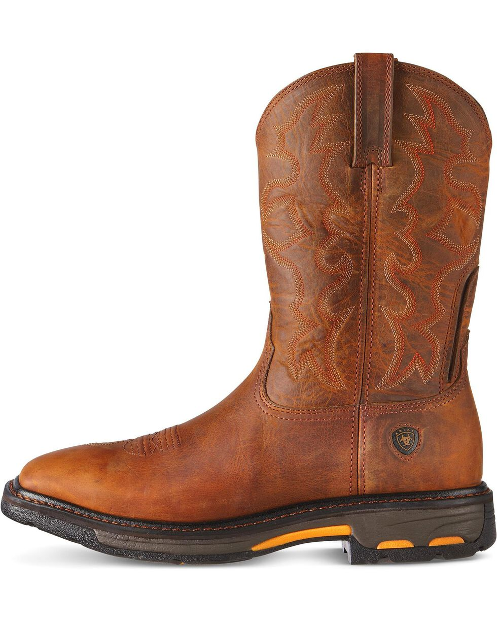 Ariat Men's Workhog  Steel Toe Work Boots, Toast, hi-res