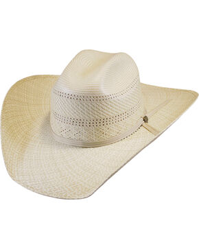 Justin Men's Ivory Straw Bent Rail Banks Hat , Ivory, hi-res